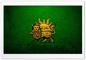 Grunge Safavid Flag HD Wide Wallpaper for Widescreen