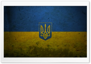 Grunge Ukraine   Presidential Flag HD Wide Wallpaper for 4K UHD Widescreen desktop & smartphone