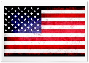 Grunge USA Flag HD Wide Wallpaper for Widescreen