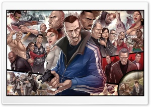 GTA 4 Characters HD Wide Wallpaper for Widescreen