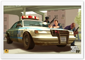 GTA 4 Cops HD Wide Wallpaper for Widescreen