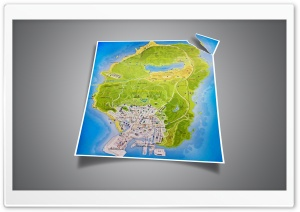 GTA 5 official map HD Wide Wallpaper for Widescreen