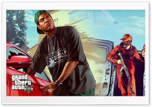GTA V Dual Screen Ultra HD Wallpaper for 4K UHD Widescreen desktop, tablet & smartphone