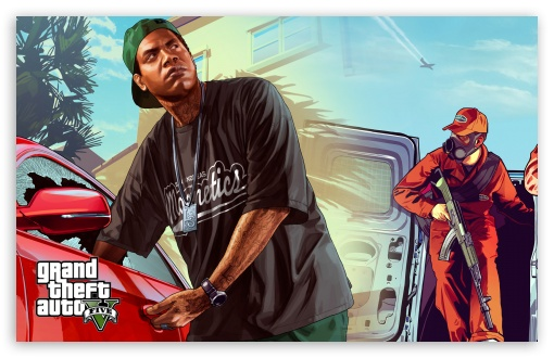 Gta V Dual Screen Ultra Hd Desktop Background Wallpaper For