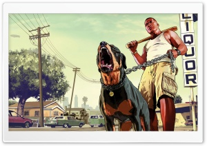 GTA V Franklin HD Wide Wallpaper for Widescreen
