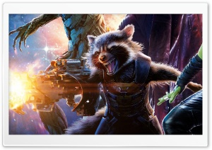 Guardians of the Galaxy Rocket Raccoon HD Wide Wallpaper for Widescreen
