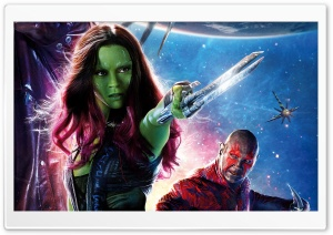 Guardians of the Galaxy Zoe Saldana as Gamora HD Wide Wallpaper for Widescreen