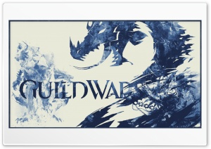 Guild Wars 2 - Blue 3 Toned HD Wide Wallpaper for Widescreen