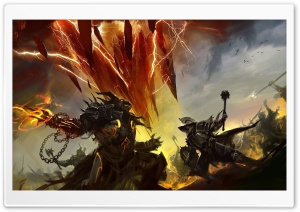 Guild Wars 2 Battleground HD Wide Wallpaper for 4K UHD Widescreen desktop & smartphone