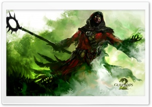 Guild Wars 2 Human Necromancer HD Wide Wallpaper for Widescreen