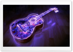 Guitar, Creative Art HD Wide Wallpaper for 4K UHD Widescreen desktop & smartphone