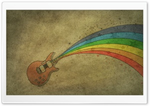Guitar Rainbow HD Wide Wallpaper for Widescreen