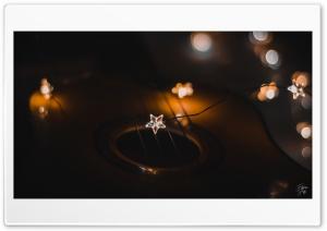 Guitar Under Stars Ultra HD Wallpaper for 4K UHD Widescreen desktop, tablet & smartphone