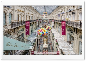 GUM Shopping Mall, Moscow HD Wide Wallpaper for 4K UHD Widescreen desktop & smartphone