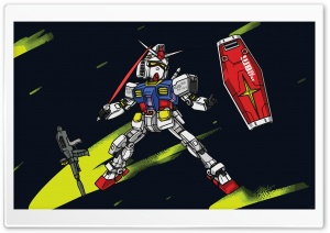 Gundam RX-78-2 Chibi Mode HD Wide Wallpaper for 4K UHD Widescreen desktop & smartphone