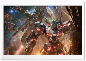 Gundam Versus Concept Art Video Game Ultra HD Wallpaper for 4K UHD Widescreen desktop, tablet & smartphone