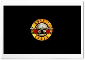 Guns 'n' Roses Logo (HD) HD Wide Wallpaper for 4K UHD Widescreen desktop & smartphone