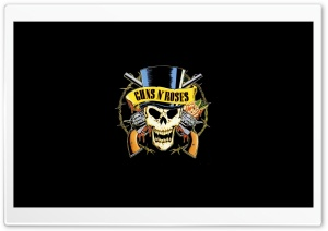 Guns 'n' Roses Logo (HD) Ultra HD Wallpaper for 4K UHD Widescreen desktop, tablet & smartphone