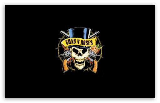 Guns 'n' Roses Logo (HD) 4K HD Desktop Wallpaper For