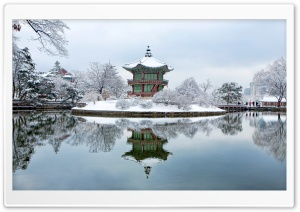 Gyeongbok Palace, South Korea, Winter HD Wide Wallpaper for Widescreen