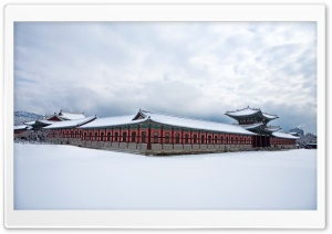 Gyeongbokgung Palace Winter Ultra HD Wallpaper for 4K UHD Widescreen desktop, tablet & smartphone