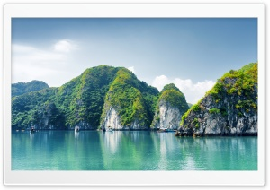 Ha Long Bay, Vietnam HD Wide Wallpaper for Widescreen