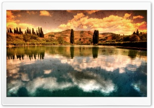 Hadrian's Villa Vintage Photography HD Wide Wallpaper for Widescreen