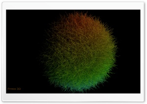 Hairy Sphere HD Wide Wallpaper for Widescreen