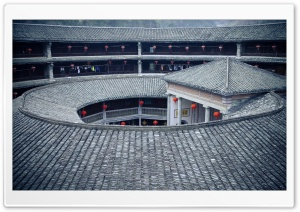 Hakka Earth Building, Yongding, Fujian, China HD Wide Wallpaper for Widescreen