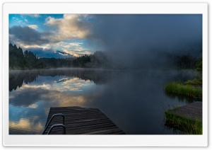 Half Foggy at Lake HD Wide Wallpaper for 4K UHD Widescreen desktop & smartphone