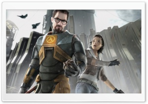 Half-Life 2 - Gordon and Alyx HD Wide Wallpaper for Widescreen