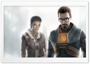 Half Life Gordon And Alyx HD Wide Wallpaper for Widescreen