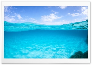 Half Underwater, Half Above HD Wide Wallpaper for Widescreen