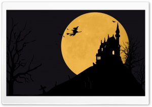 Halloween BG Moon Texture Trees Final Ultra HD Wallpaper for 4K UHD Widescreen desktop, tablet & smartphone
