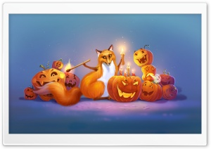Halloween Fox Art Ultra HD Wallpaper for 4K UHD Widescreen desktop, tablet & smartphone