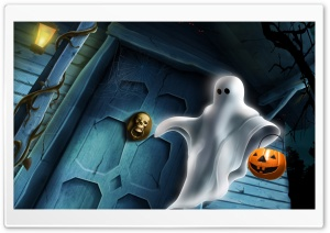 Halloween Ghost HD Wide Wallpaper for 4K UHD Widescreen desktop & smartphone