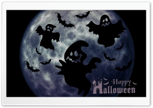 Halloween Ghosts Night HD Wide Wallpaper for Widescreen