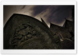 Halloween Gravestone HD Wide Wallpaper for 4K UHD Widescreen desktop & smartphone