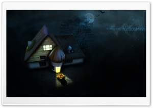 Halloween House HD Wide Wallpaper for 4K UHD Widescreen desktop & smartphone