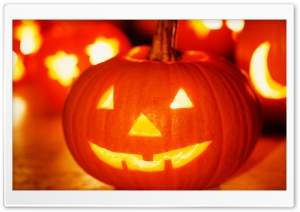 Halloween Jack-o'-lantern HD Wide Wallpaper for Widescreen