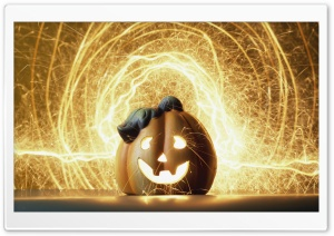 Halloween Lightshow HD Wide Wallpaper for Widescreen
