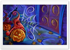 Halloween Pumpkin High Quality Screen Ultra HD Wallpaper for 4K UHD Widescreen desktop, tablet & smartphone