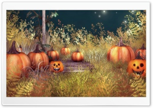 Halloween Pumpkins HD Wide Wallpaper for 4K UHD Widescreen desktop & smartphone