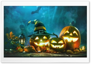 Halloween Pumpkins Jack O Lanterns Ultra HD Wallpaper for 4K UHD Widescreen desktop, tablet & smartphone
