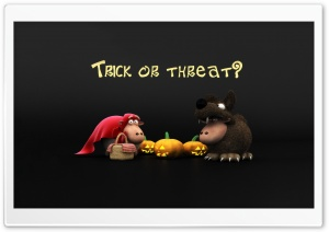 Halloween Sheeps Trick Or Threat Screen HD Wide Wallpaper for 4K UHD Widescreen desktop & smartphone