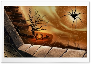 Halloween Spirit Spider Web Hallowmas HD Wide Wallpaper for 4K UHD Widescreen desktop & smartphone