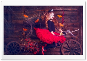 Halloween Witch HD Wide Wallpaper for Widescreen