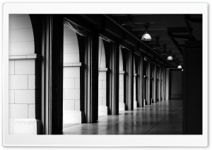 Hallway BW HD Wide Wallpaper for Widescreen