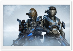 Halo Reach characters Kat and...