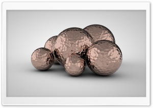 Hammered Copper Balls Ultra HD Wallpaper for 4K UHD Widescreen desktop, tablet & smartphone
